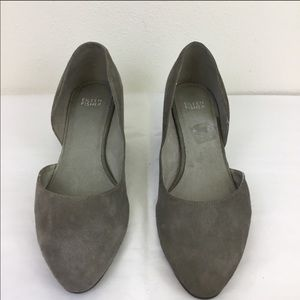 Eileen Fisher Lily half-d'Orsay suede pumps